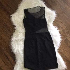 Urban Outfitters Mesh Cut-out Mini Dress